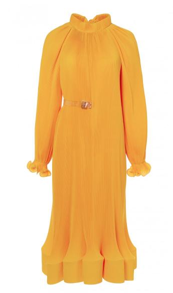 Tibi Pleated Dress with Removable Belt  $995, Tibi.com