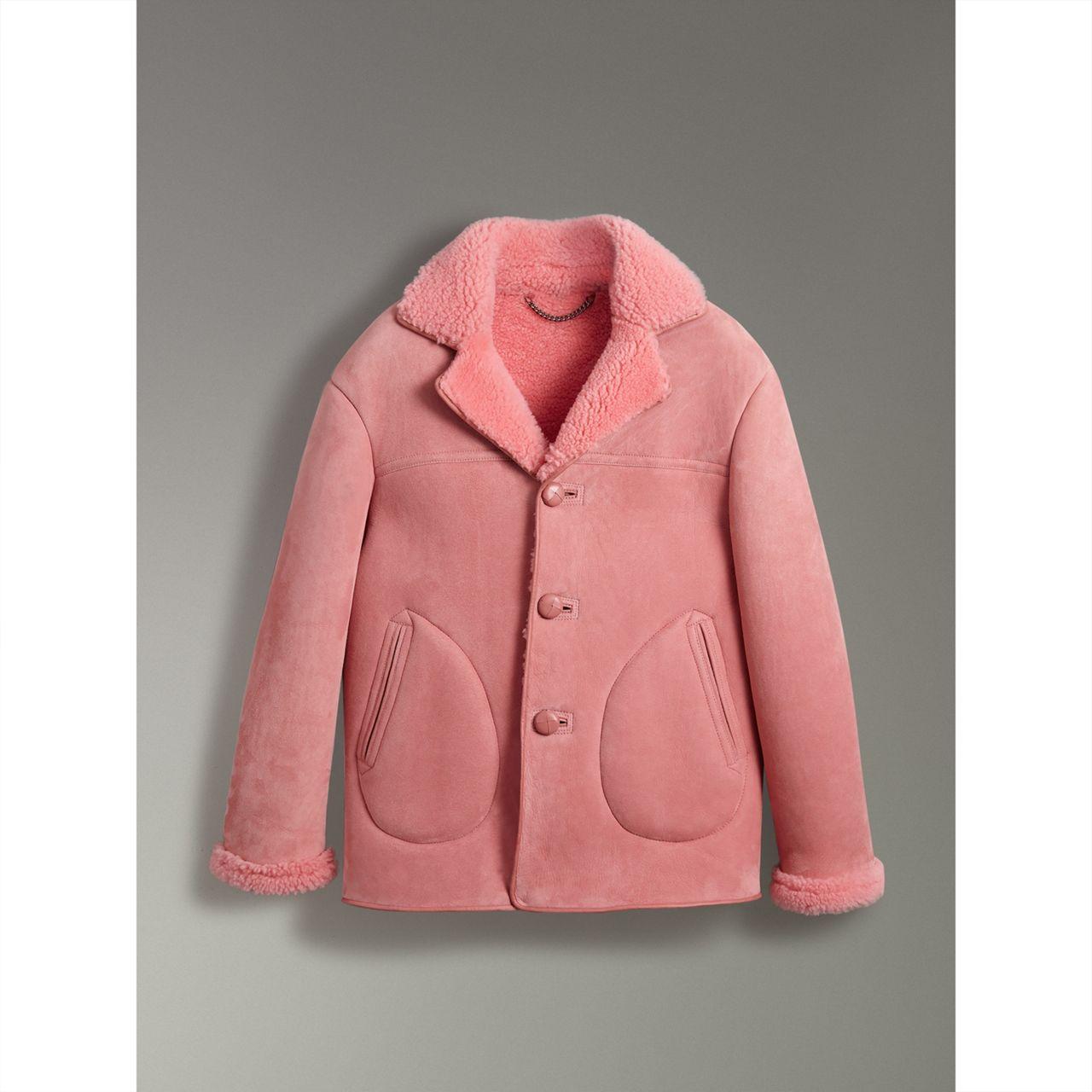 Burberry Leather Trim Shearling Jacket $4,195,  Burberry.com