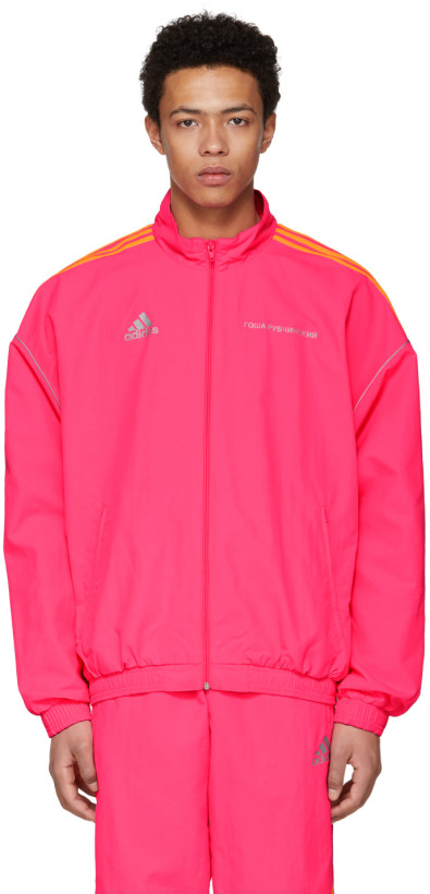Gosha Rubchinskiy Pink Adidas Originals Edition Track Jacket $200,  SSENSE.com
