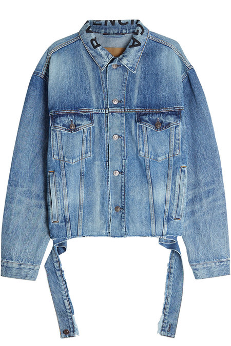 Balenciaga Denim Jacket $1,250,  StyleBop.com