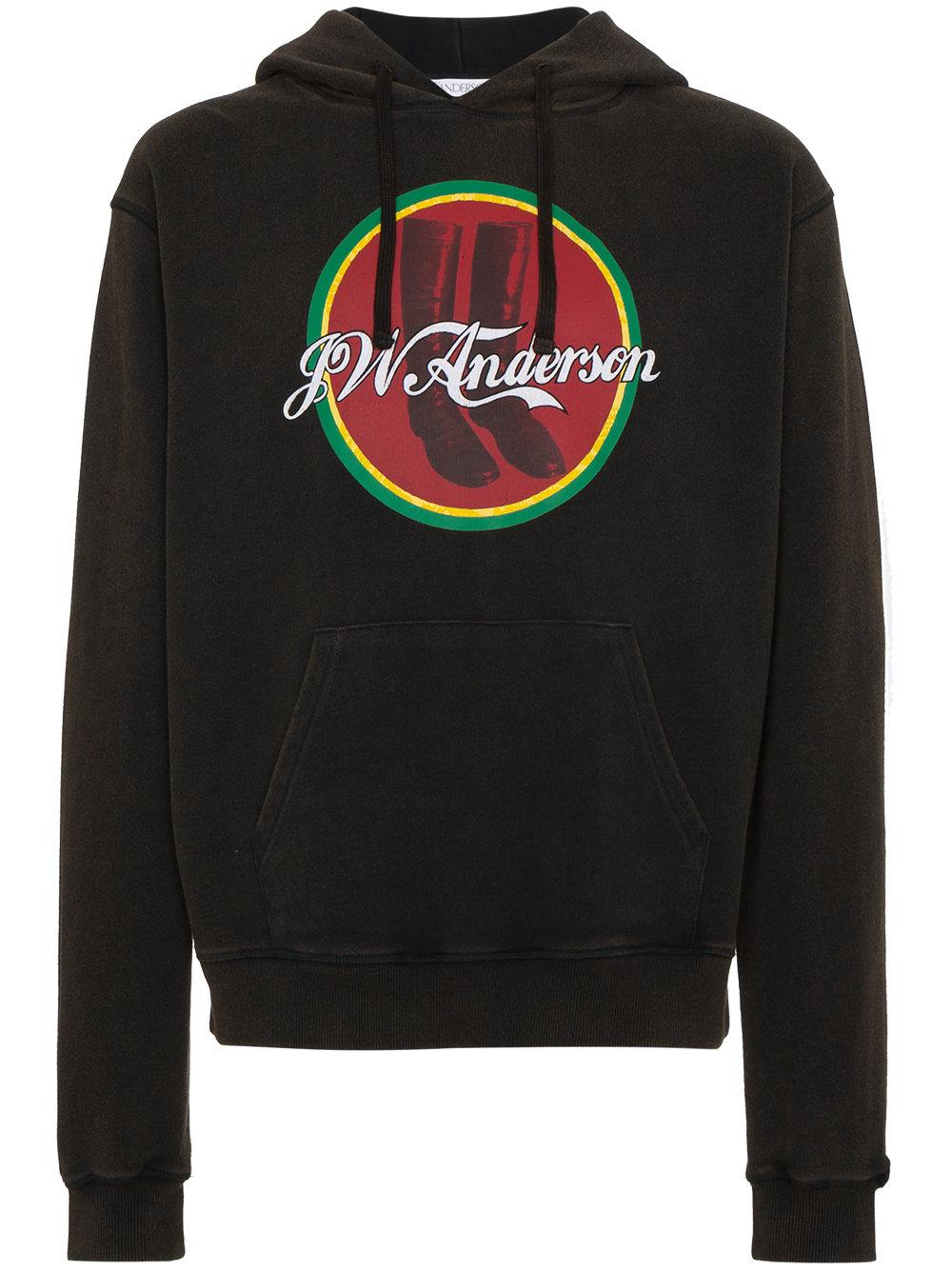JW Anderson Cola Boots print hoodie $375,  Farfetch.com