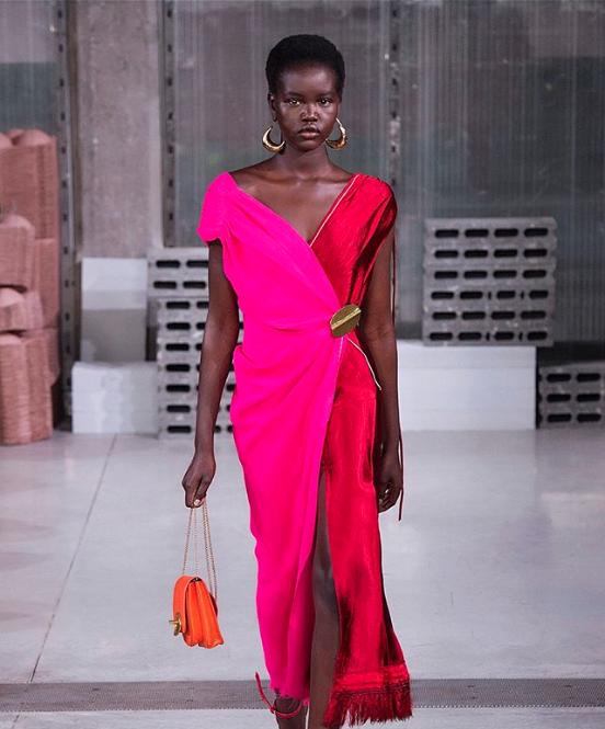 Who: Adut Akech Bior |  @adutakech   Where We Spotte Her: Missoni, Salvatore Ferragamo, Versace, Marni
