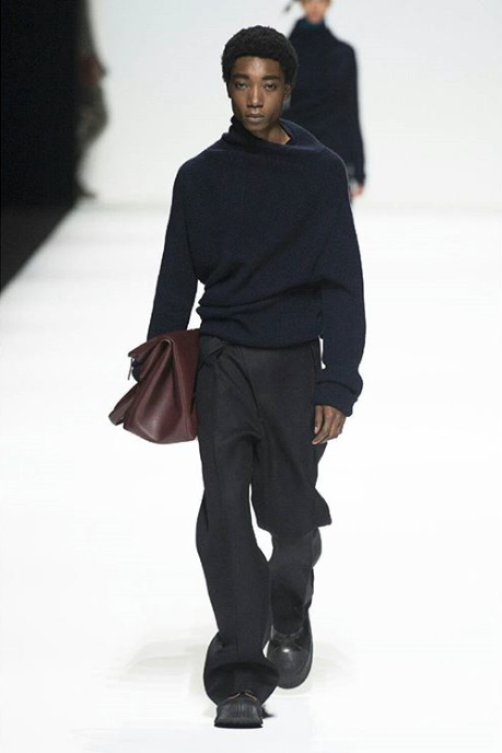 Who: Luis Mba Ndongo |  @ndongluis   Where We Spotted Him: Jil Sander