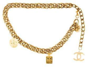 Chanel Vintage CC Chain-Link Belt  $595,  therealreal.com