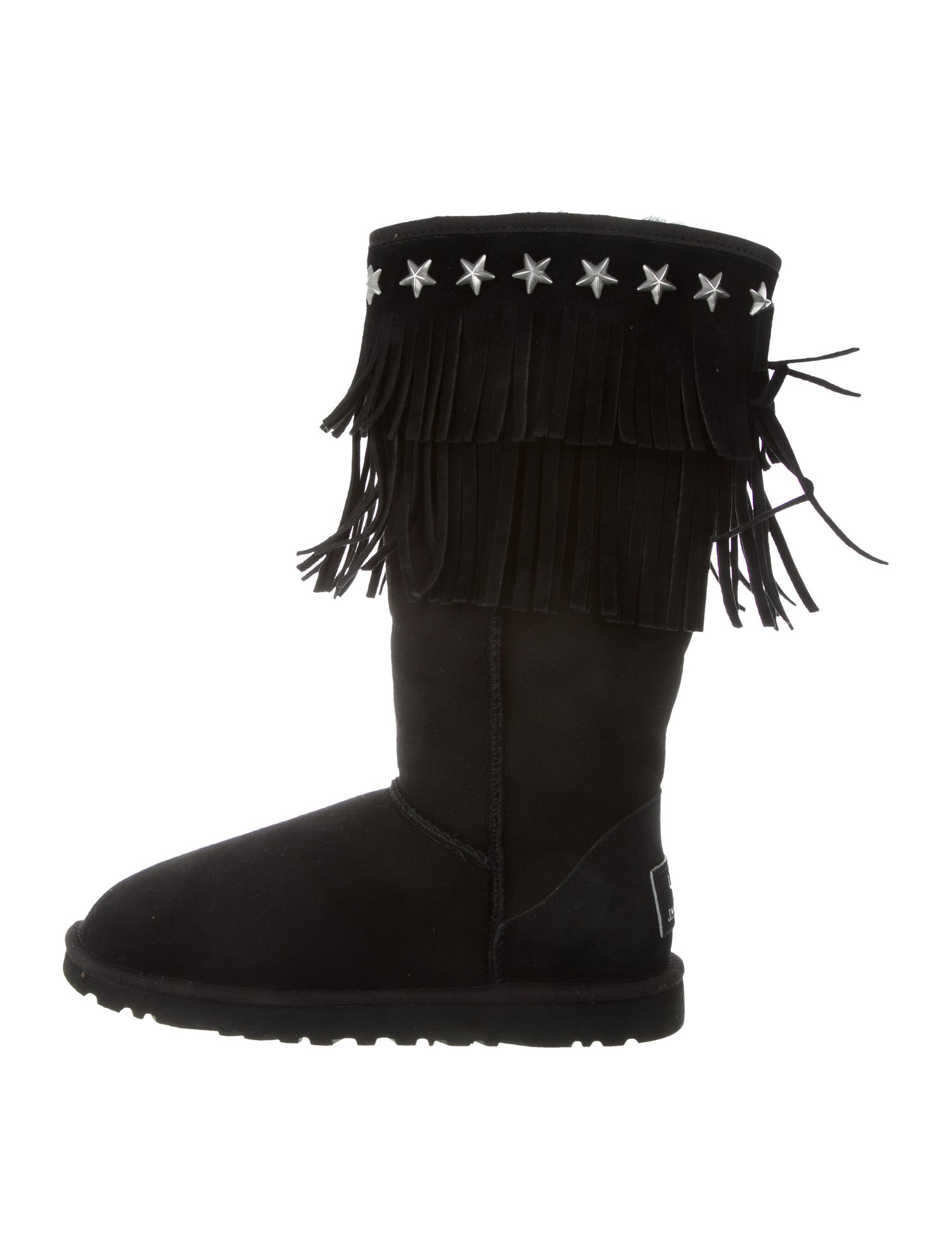 JIMMY CHOO & UGG Embellished Sora Boots $195,  The Real Real