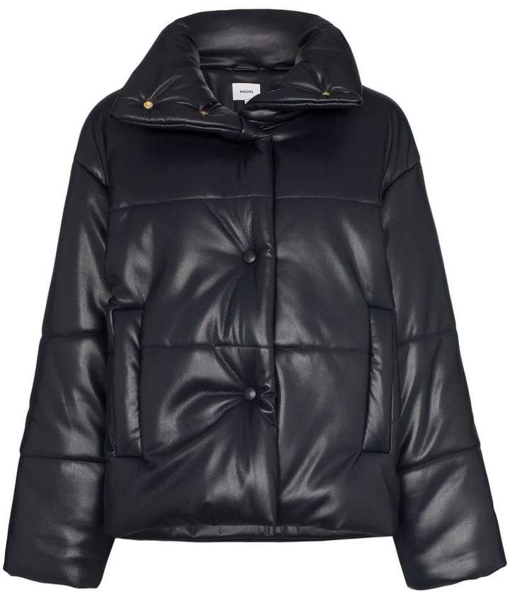 NANUSHKA - Hide Vegan Leather Puffer $559, farfetch.com