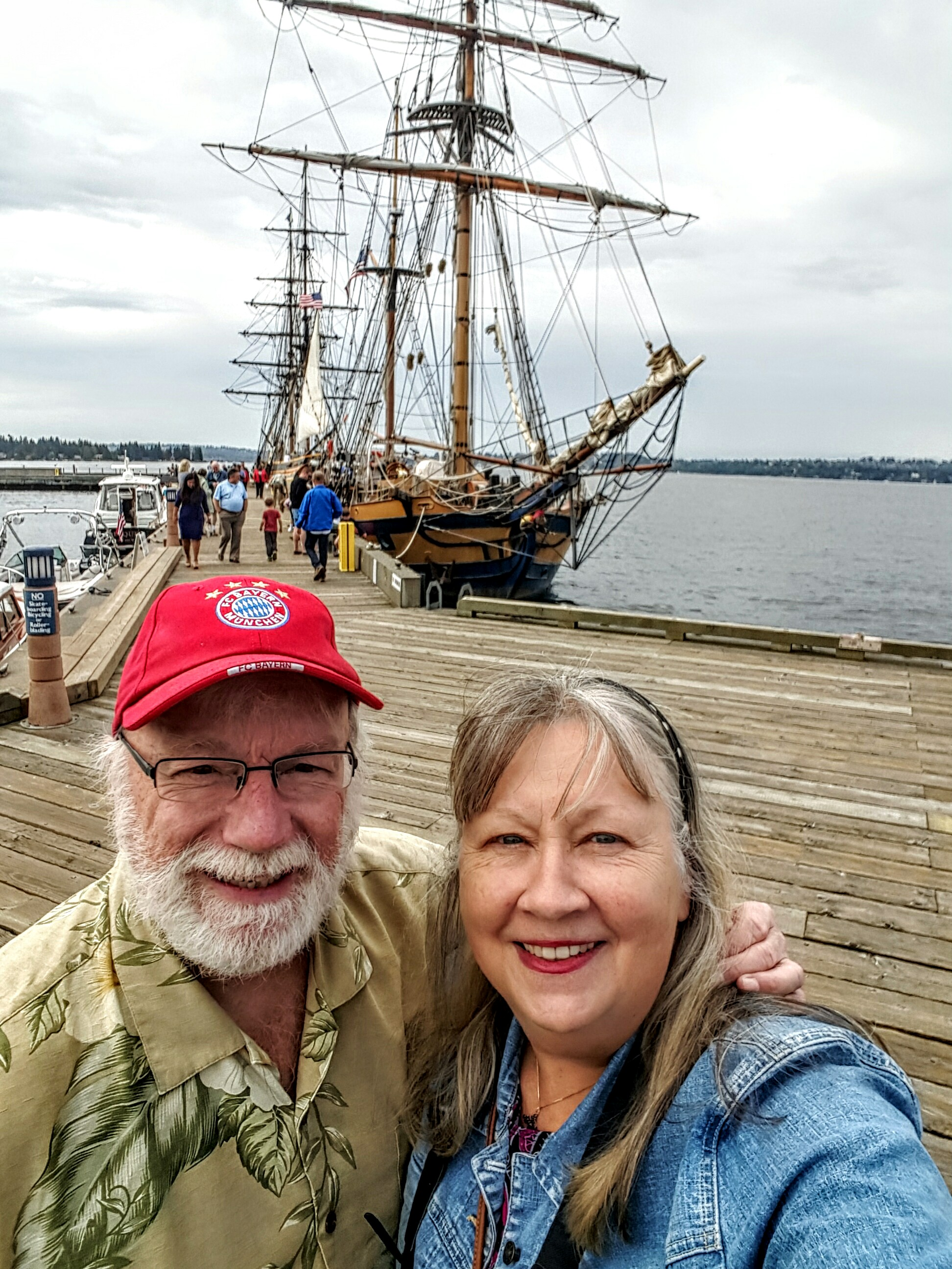 Reid Champagne and Carolyn Marquardt at the Tall Ships