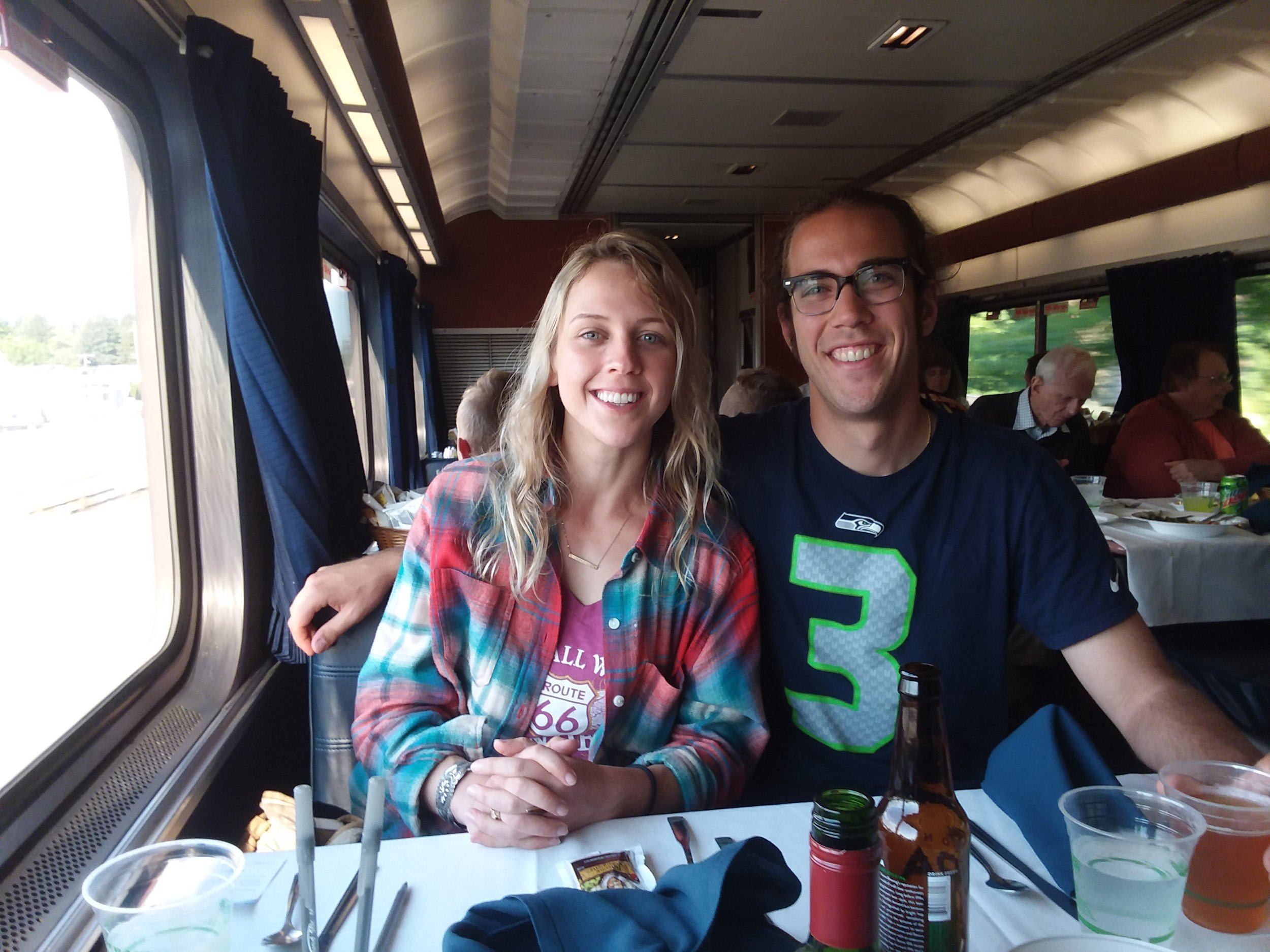 Molly and TJ, fellow rail riders