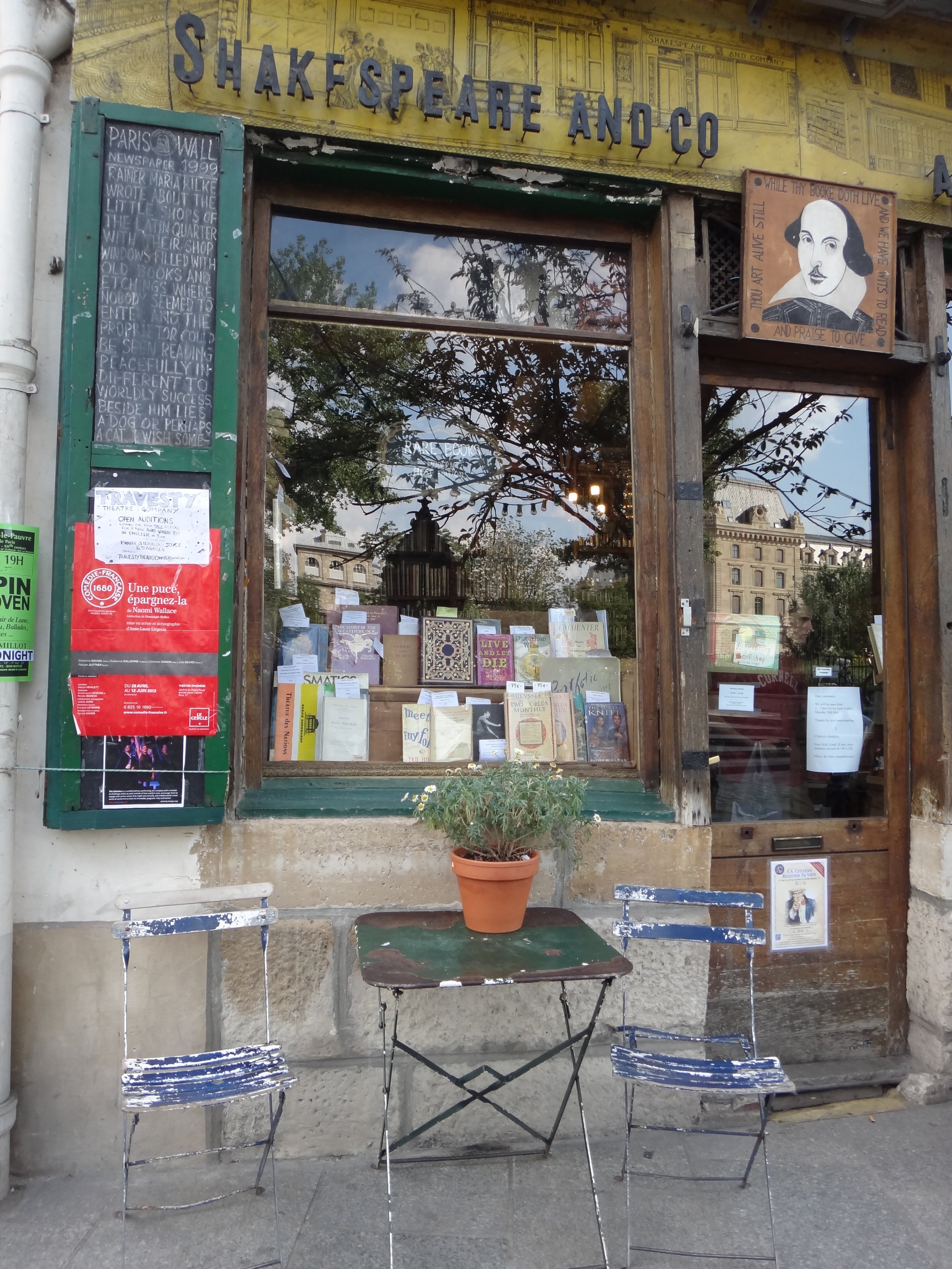 photo credit: Carolyn Marquardt  / Shakespeare and Company shop in Paris