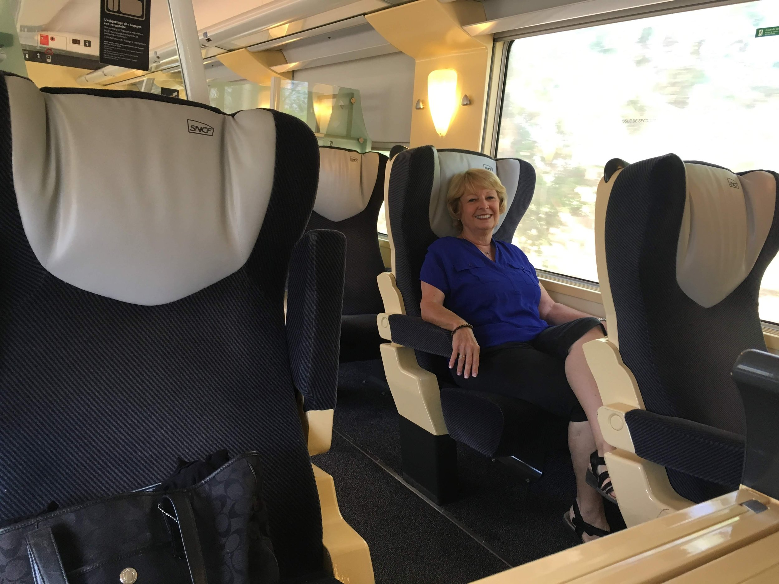 Carol adapted easily to first class European rail travel
