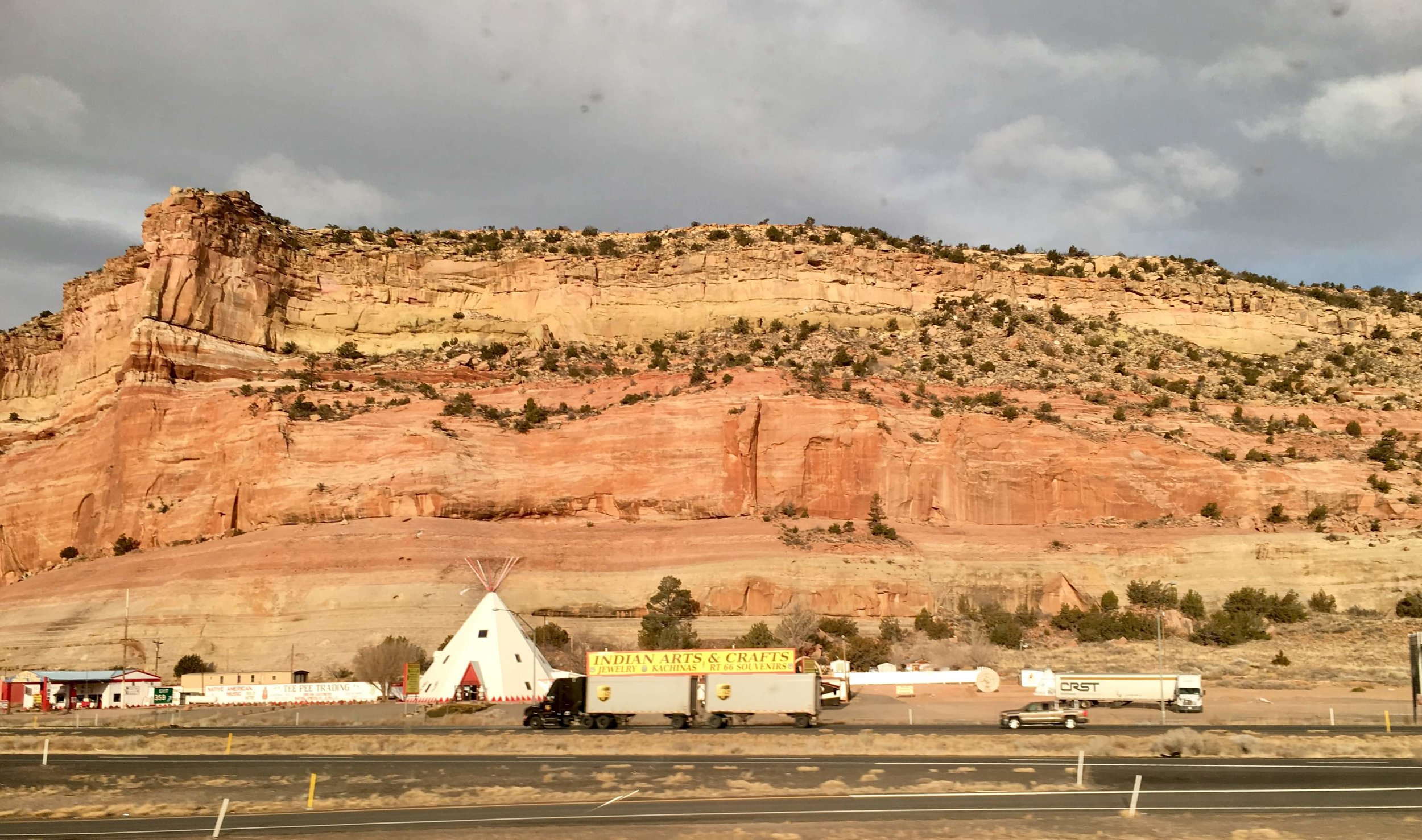 Somewhere in New Mexico, though it doesn't matter where you are so much as it is simply the feel of rolling along.