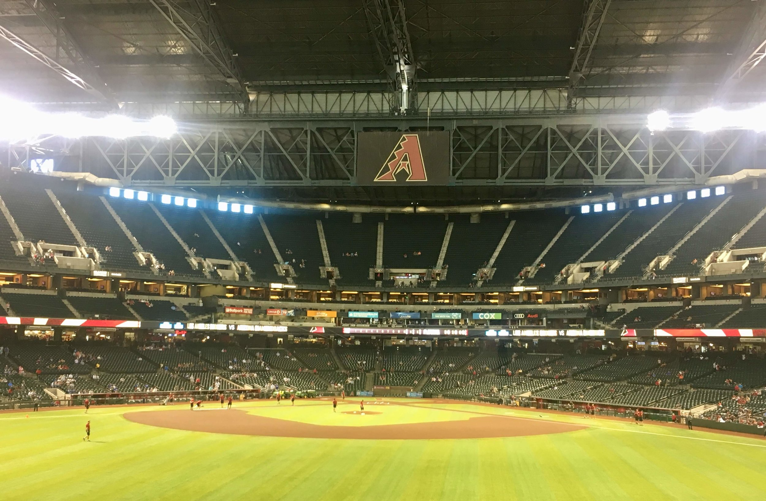 Chase Field had just replaced it's natural grass with artificial turf the year before we arrived
