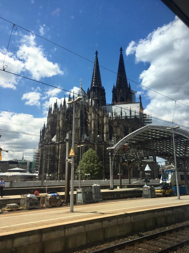 Beautiful German scenery (Cologne cathedral) along the way