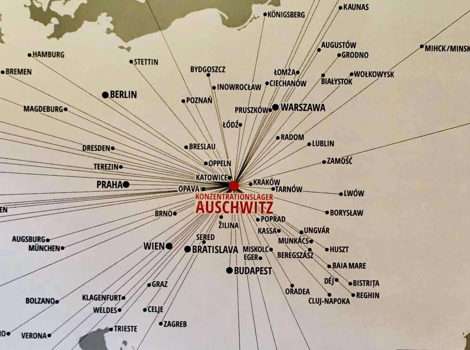 For European Jews, all roads led to Auschwitz