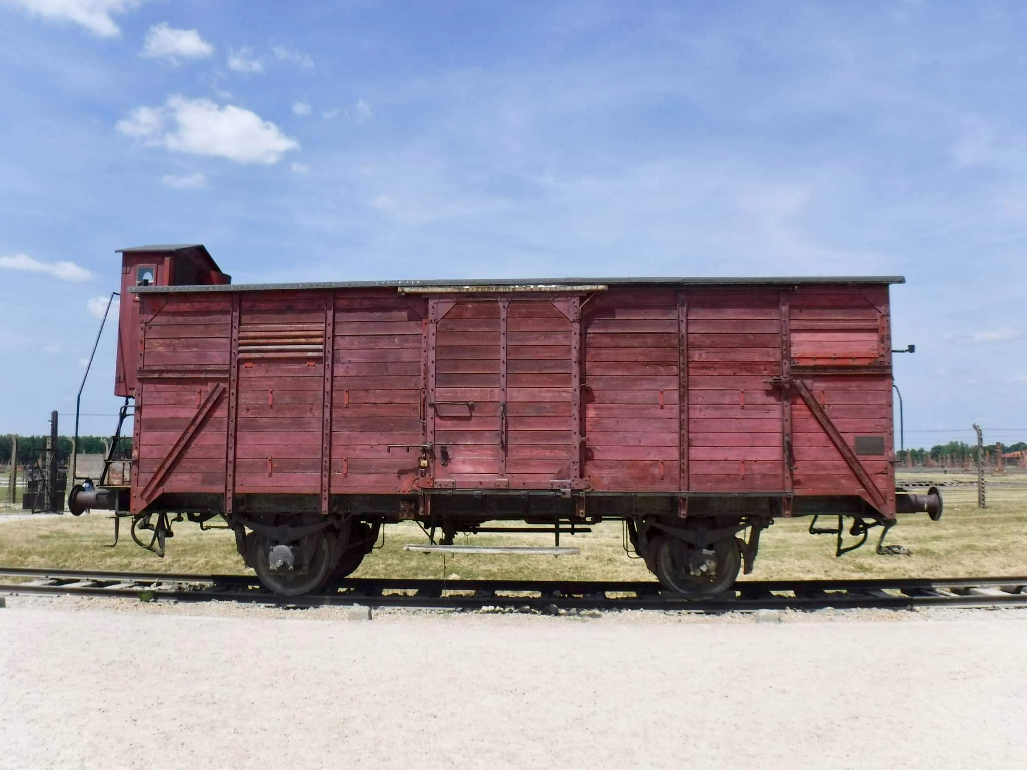 Auschwitz train car , They traveled for up to three days, no food or water, upwards of 70 persons per car...