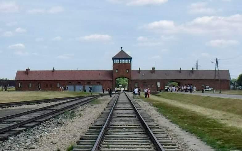 Auschwitz , ...they arrived here. Their final destination
