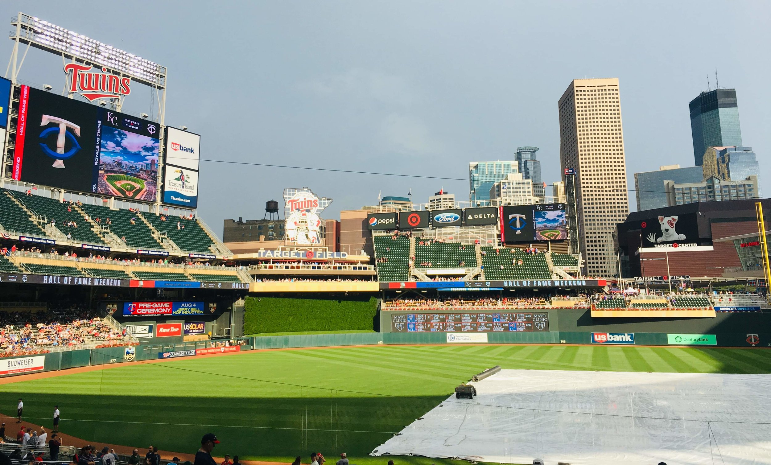 Target Field: the rain, the park and other things