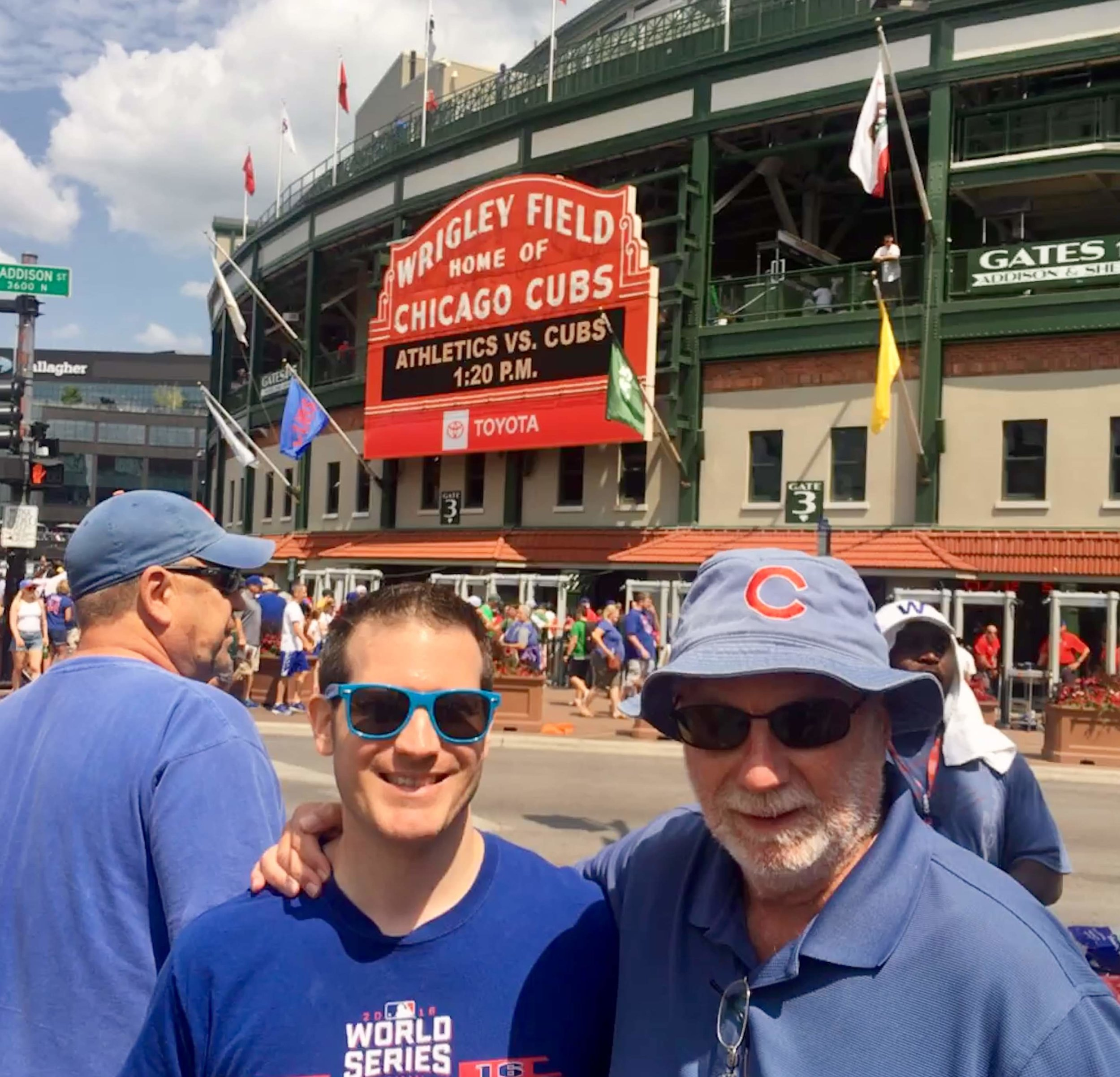 Father and son at the shrine of baseball