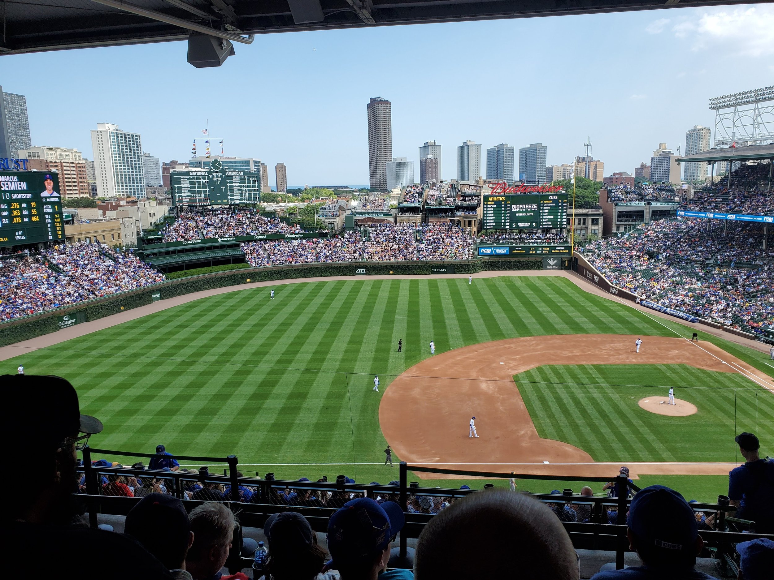 The true Field of Dreams on a perfect day for baseball. But let's not play two