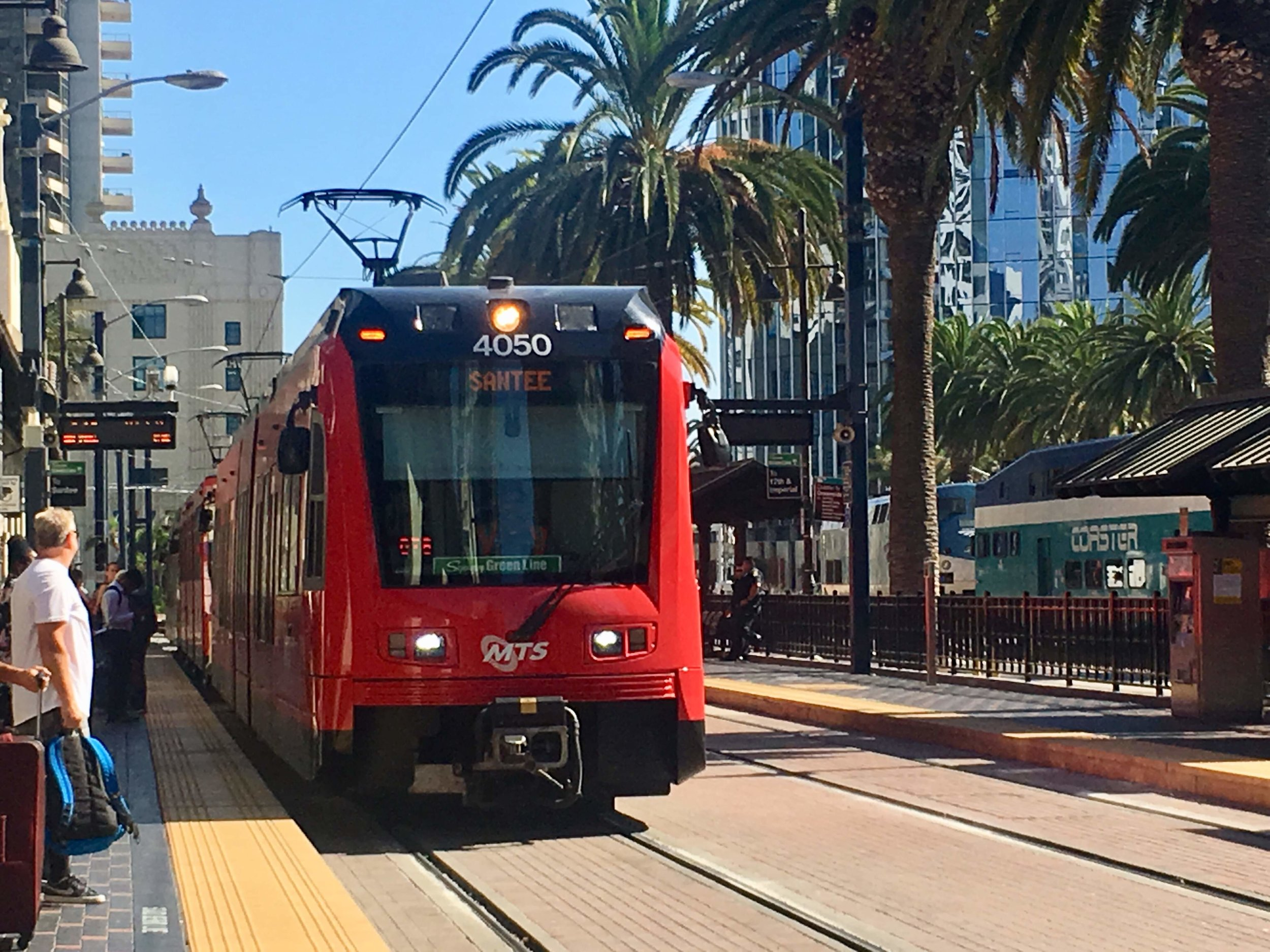The San Diego Trolley. Not my best day on public transport