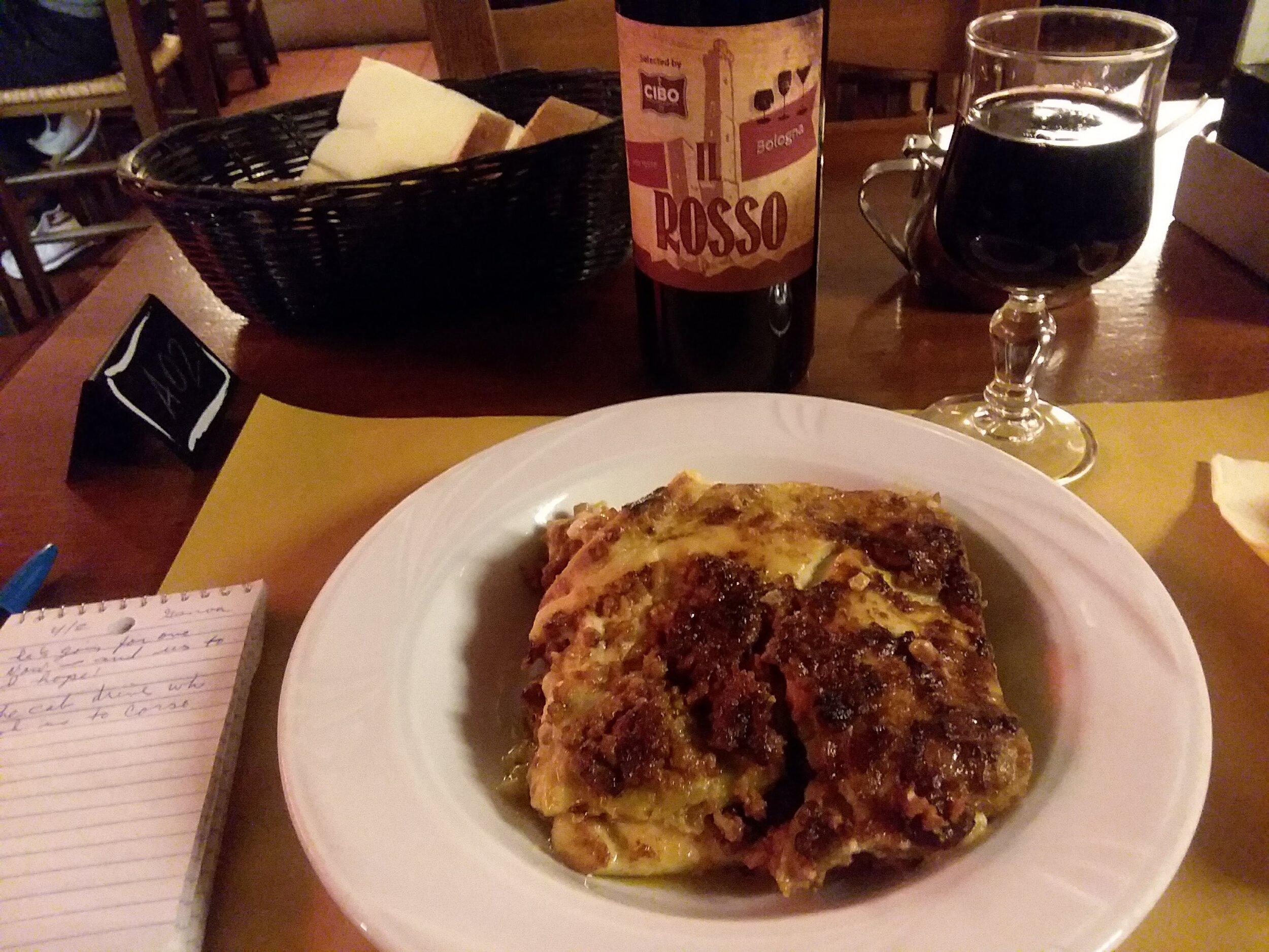 Lasagna bolognese, where else, Bologna