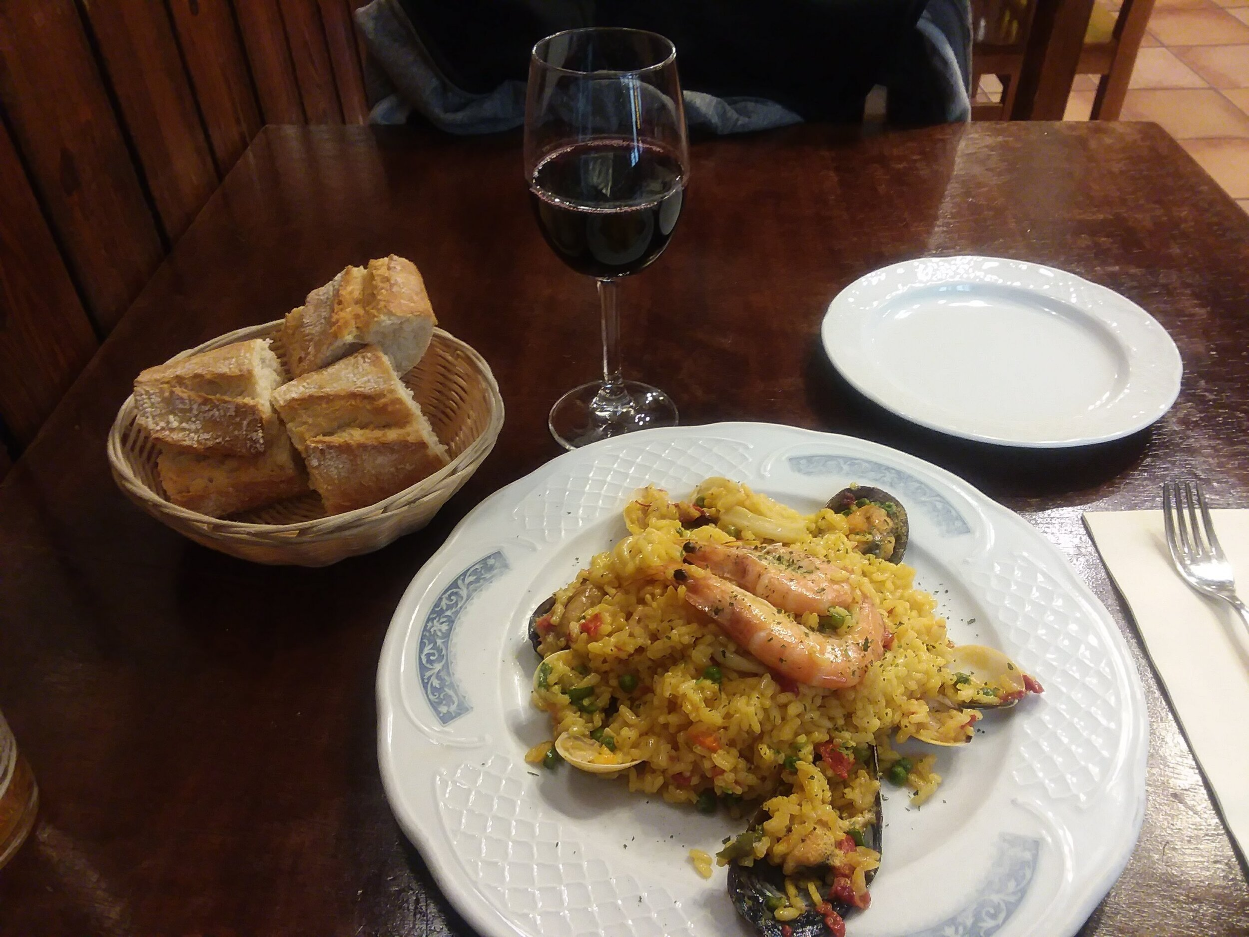 My first paella in Bilbao