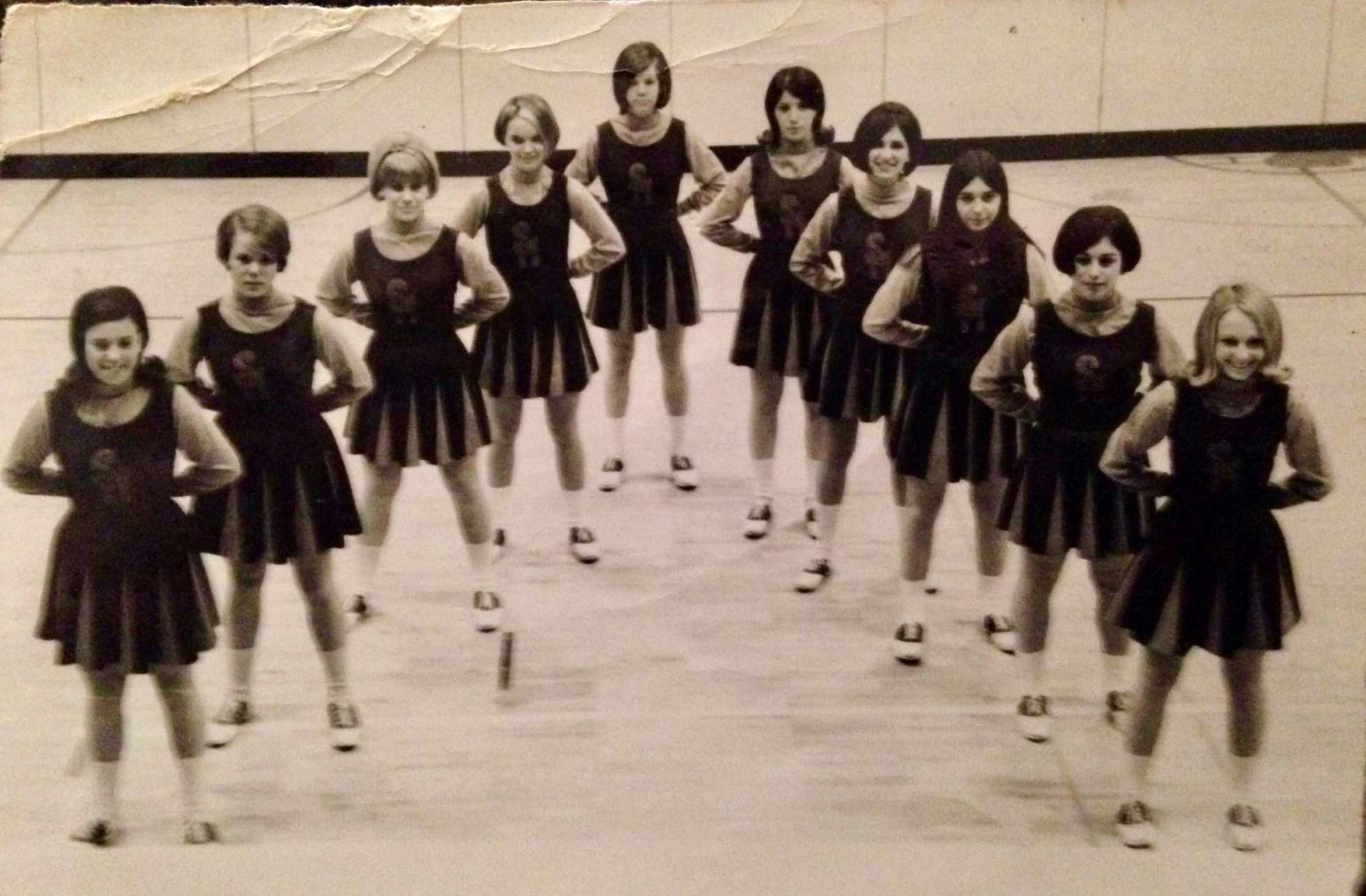 Carol's junior year cheerleader photo. Look for the knees...