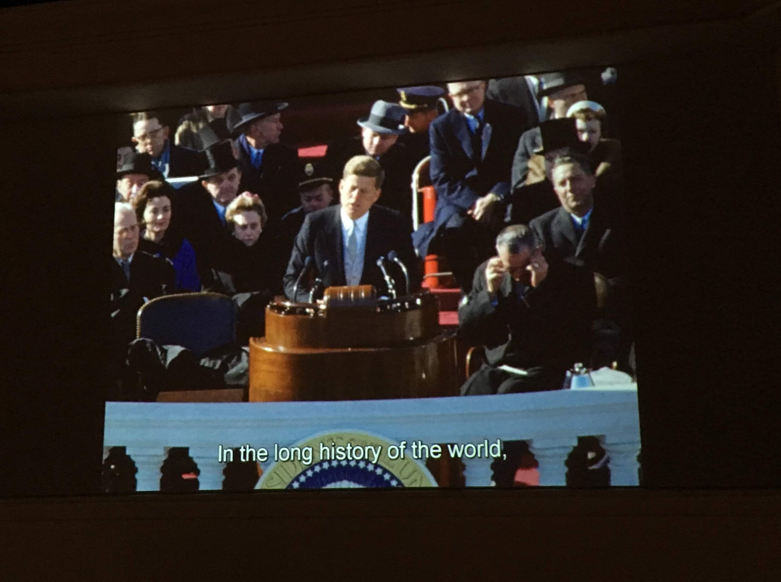 Kennedy inaugural address. I memorized it for high school forensics