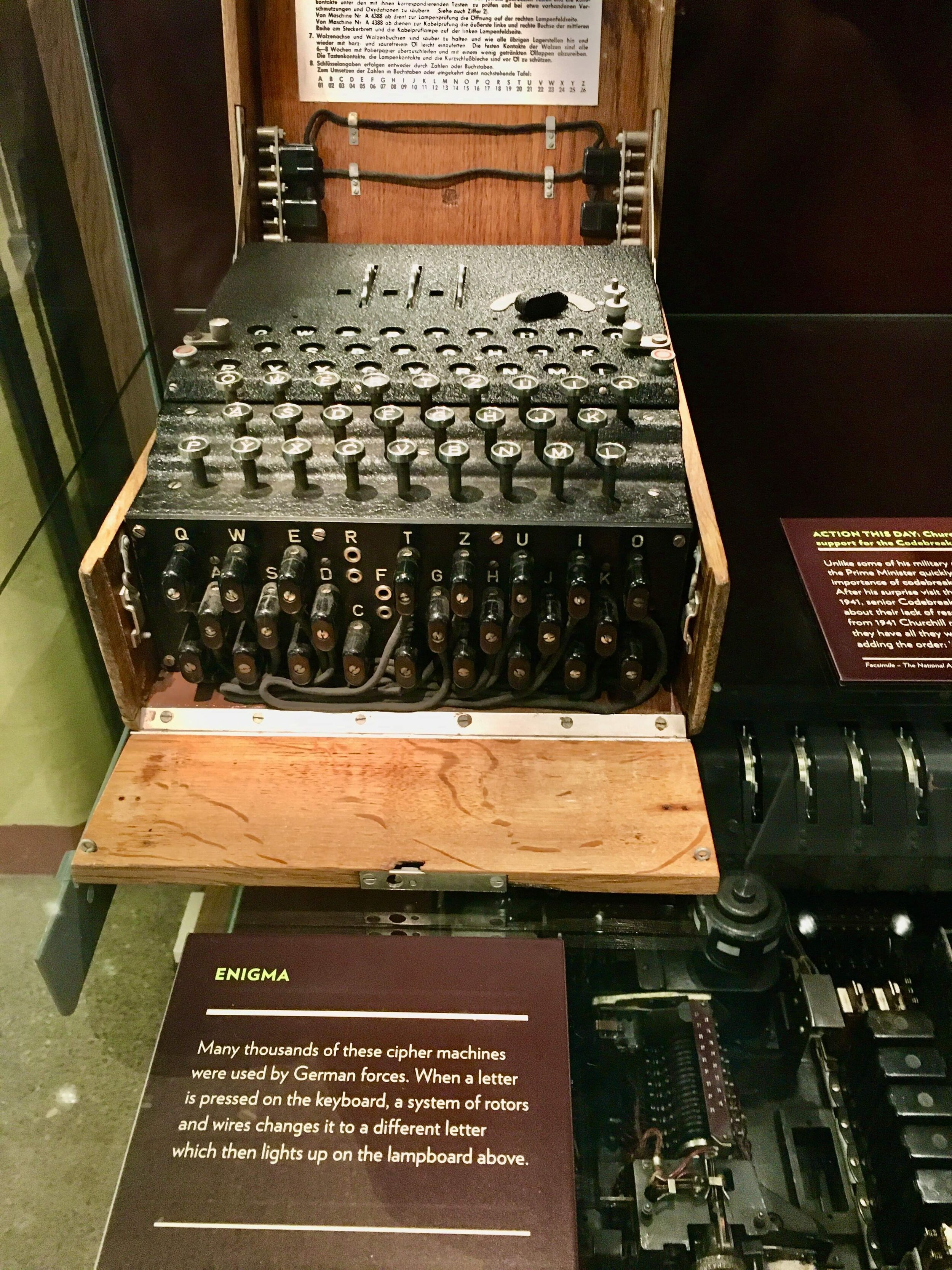 The German code machine known as Enigma