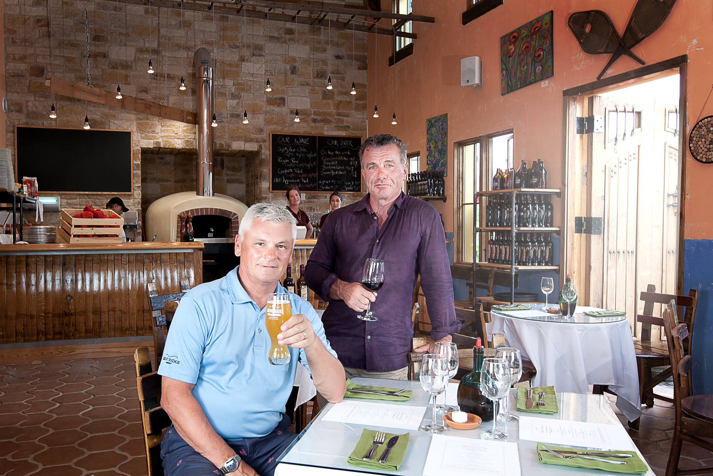 Steven and Glen Dodge, brothers who started Bent Ridge Vineyard and Winery that began commercial operations in July of this year.