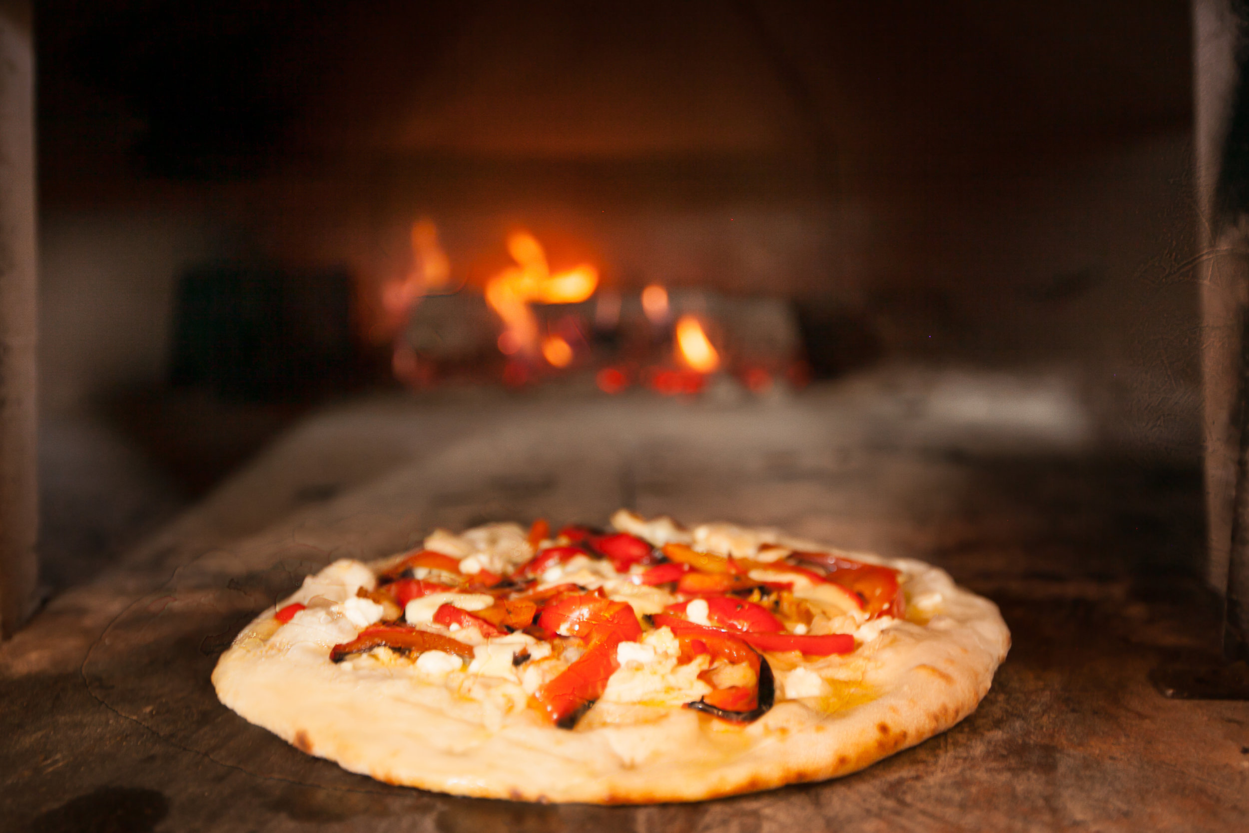 Oven cooked pizza, need I say more.....I did get to sample a piece of this pizza and it was fantastic.