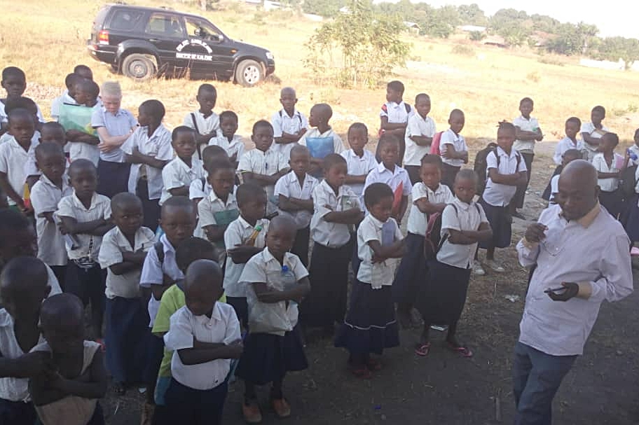 Children at the new school in Kalemie, DRC. This school is operated by the Anglican church and has helped bring reconciliation to the community.