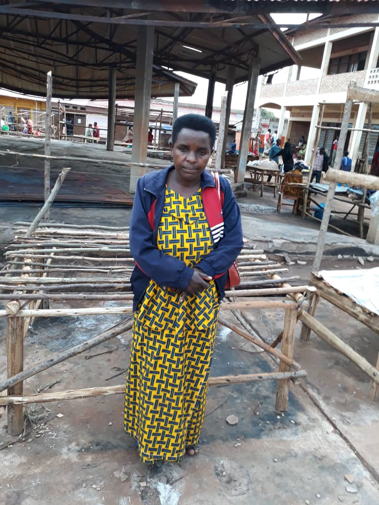A recent fire in the Matana market devastated the community, including this woman and her business.