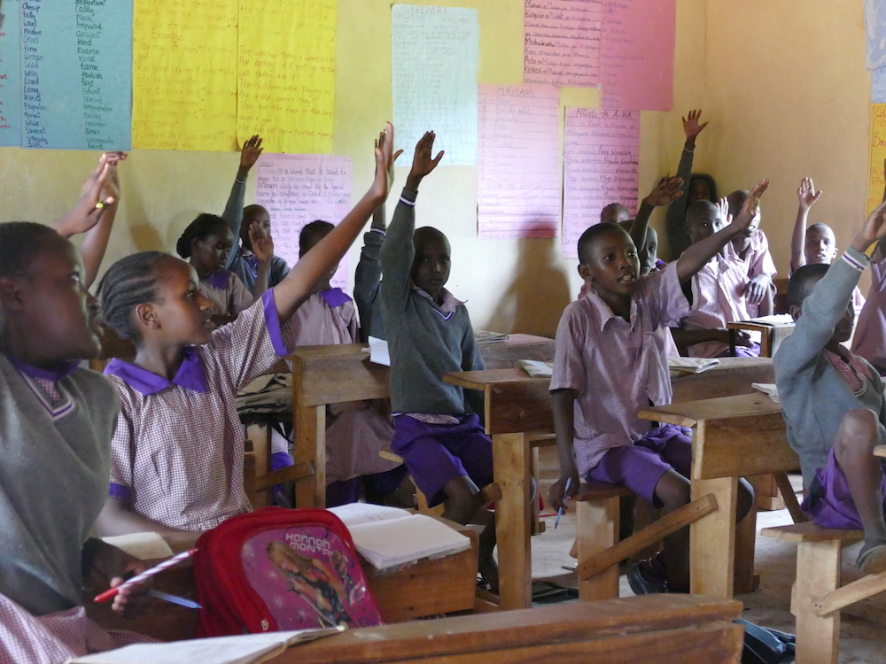 Tumaini Students are eager to learn.
