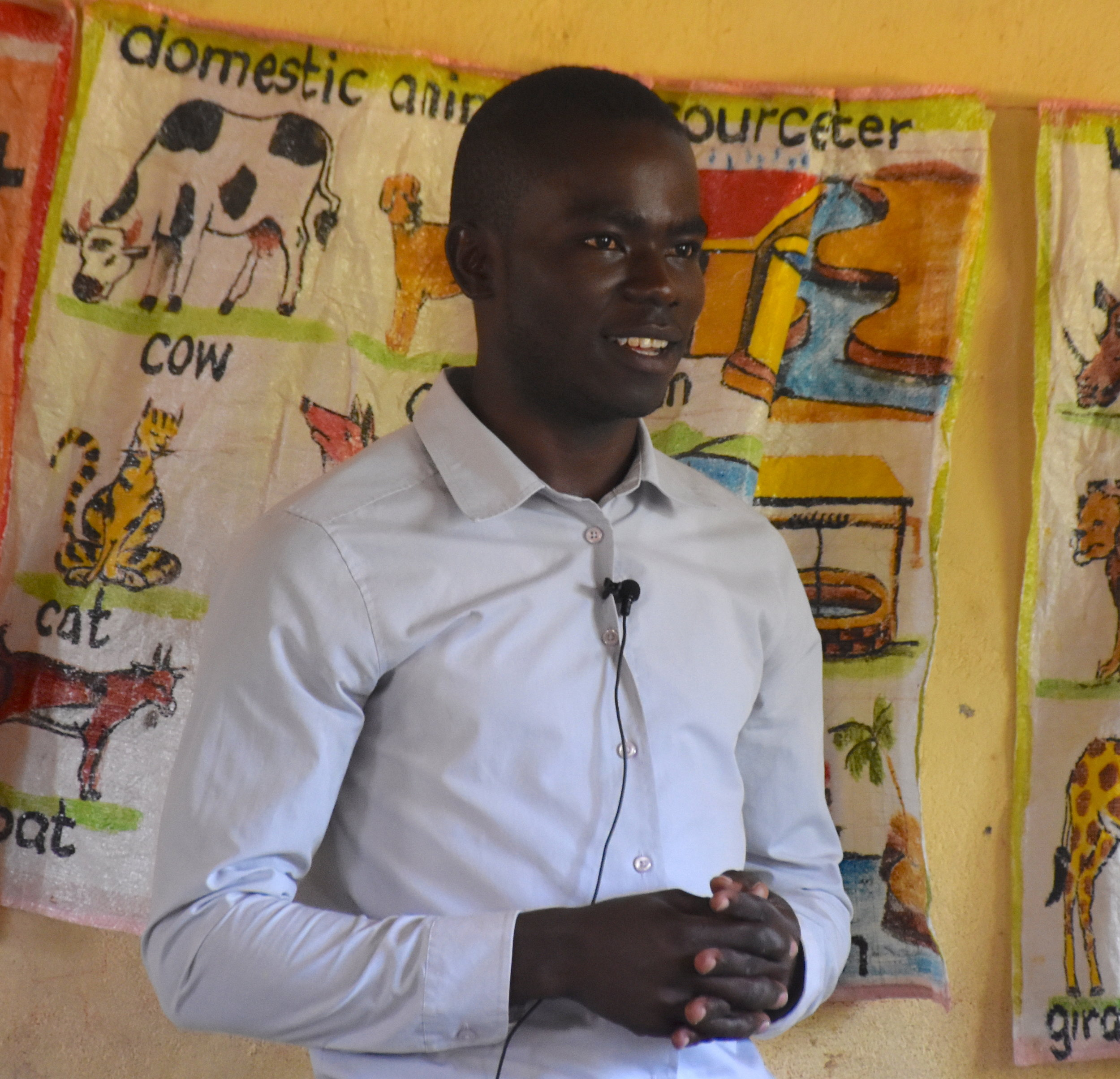 Teacher Pascal explains how God prepared him for teaching at Tumaini.