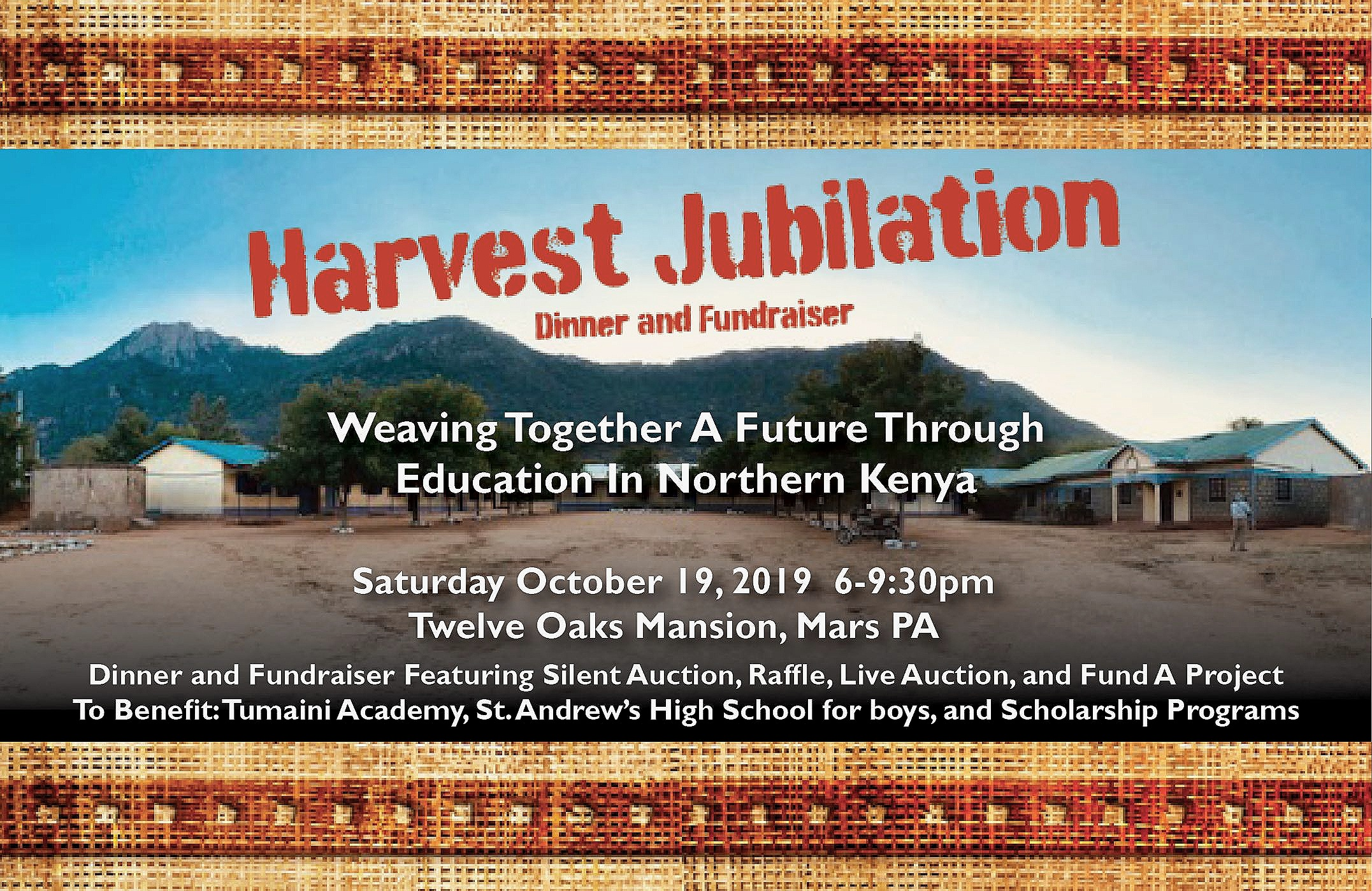 Harvest Jubilation! - Purchase your tickets here.