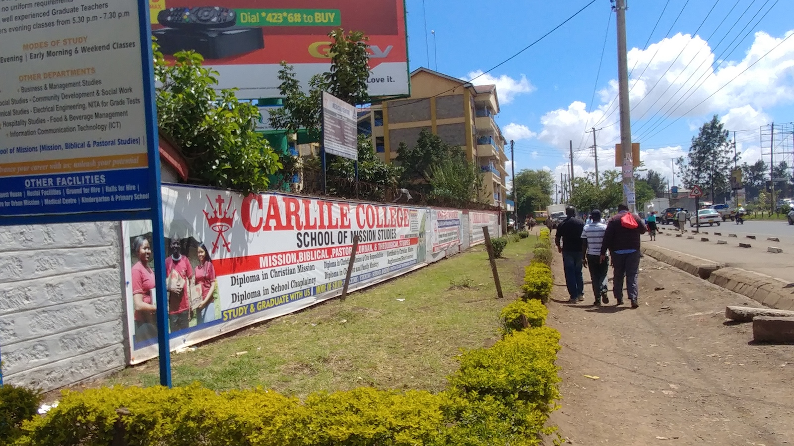It might not look like much, but Carlile College in Nairobi, Kenya has an excellent reputation for training clergy and evangelists.
