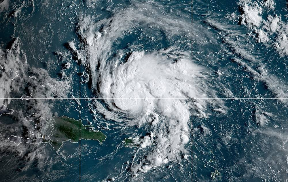 An NOAA satellite photo of Hurricane Dorian, a Category 5 storm that ravaged the Bahamas in early September 2019.