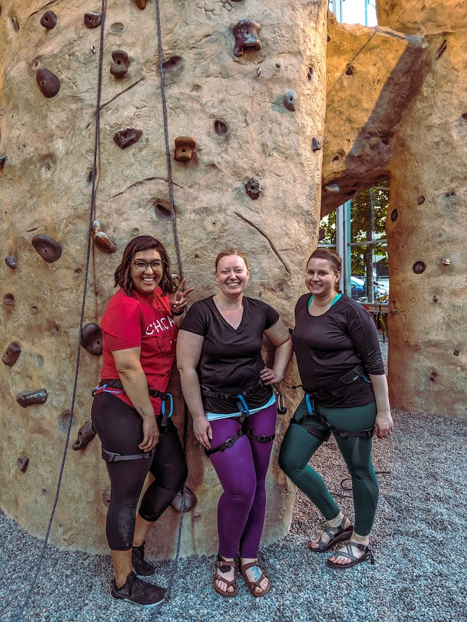 My awesome belayers and fellow climbers!