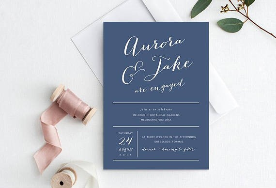 You're Engaged! - It's time to spread the news and Save the Date.Browse our Stunning Collection:Shop Engagement InvitationsShop Save the Date Invitations