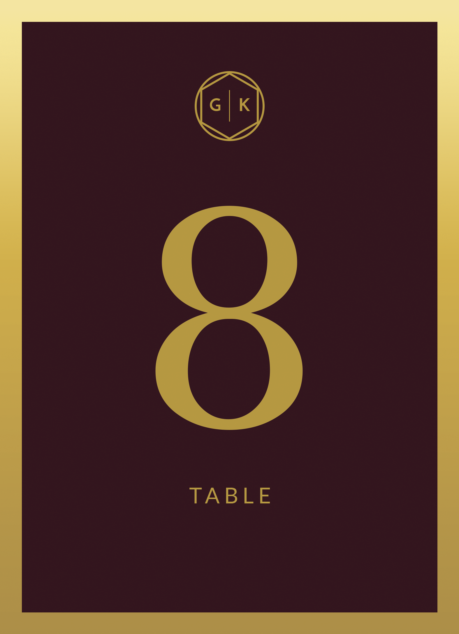 All Table Numbers