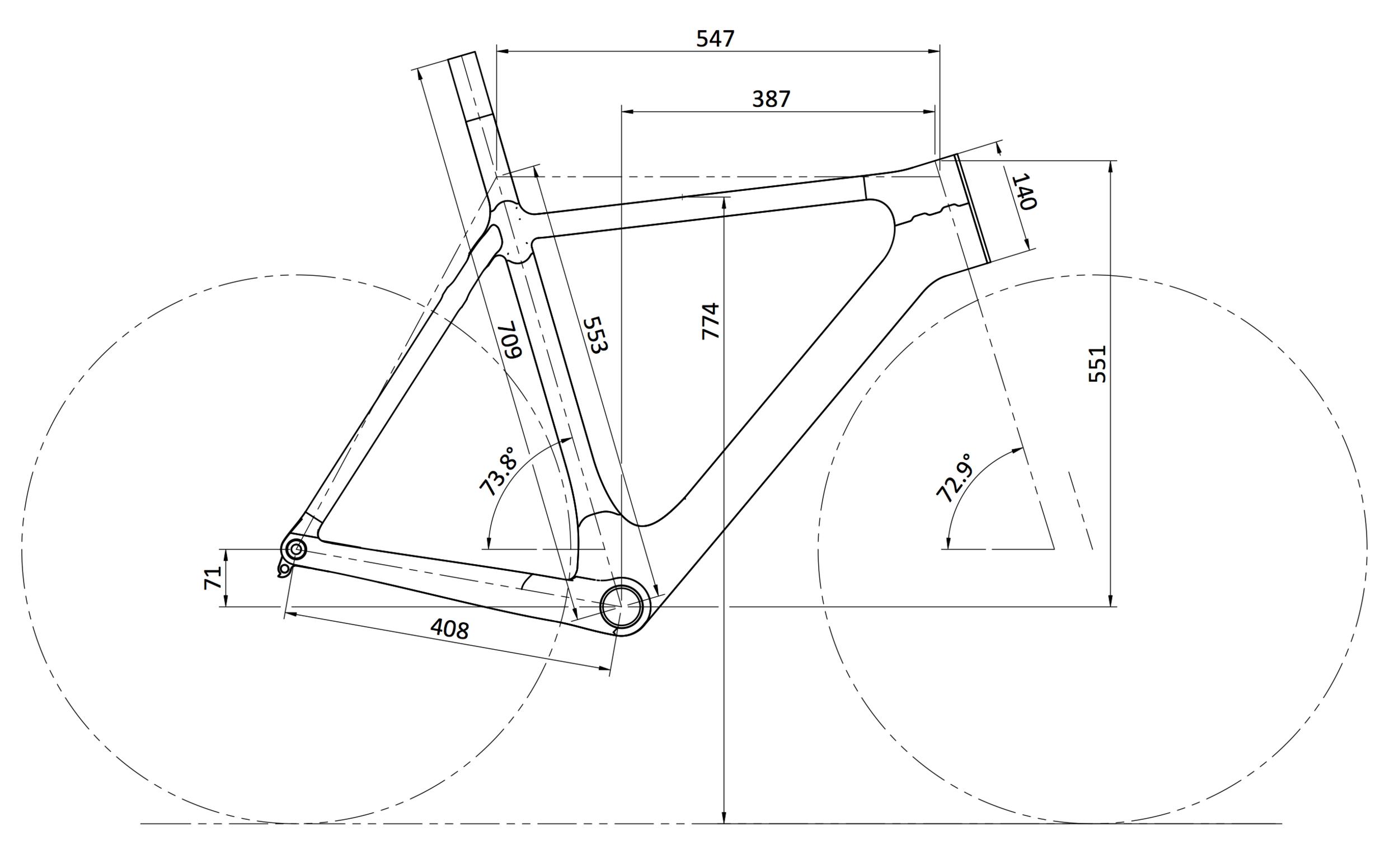 54cm Road Frame Custom Geometry.png