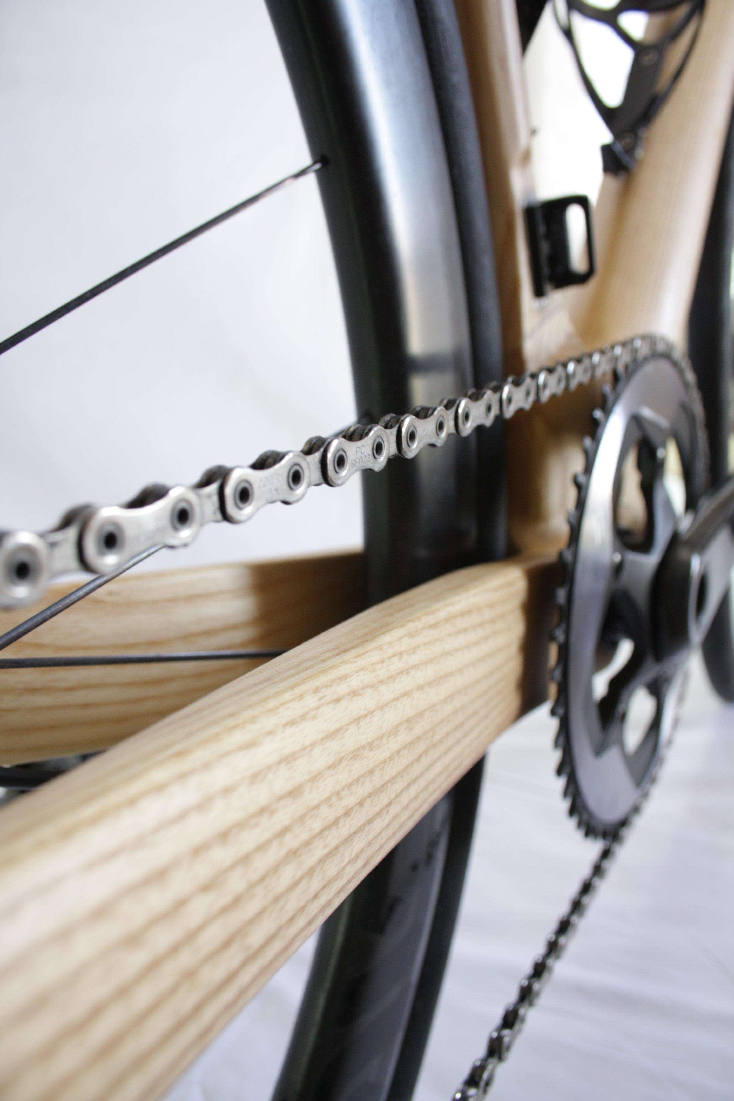 Montauk Hardwood Bikes, Chainstay Closeup 1.JPG
