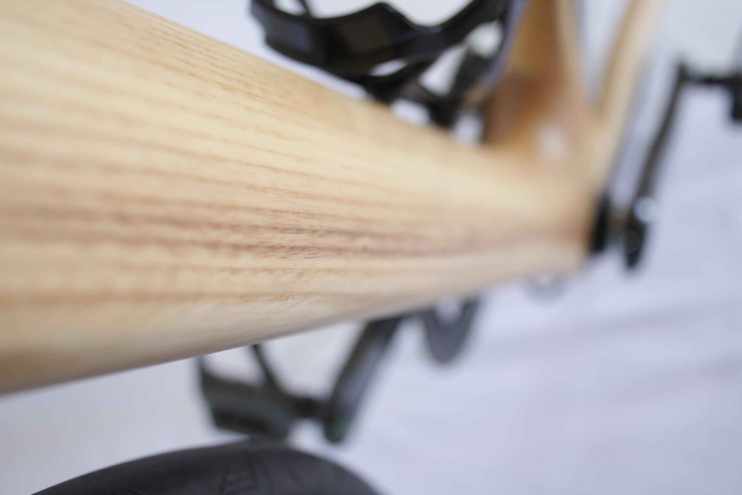 Montauk Hardwood Bikes, Downtube Closeup.JPG