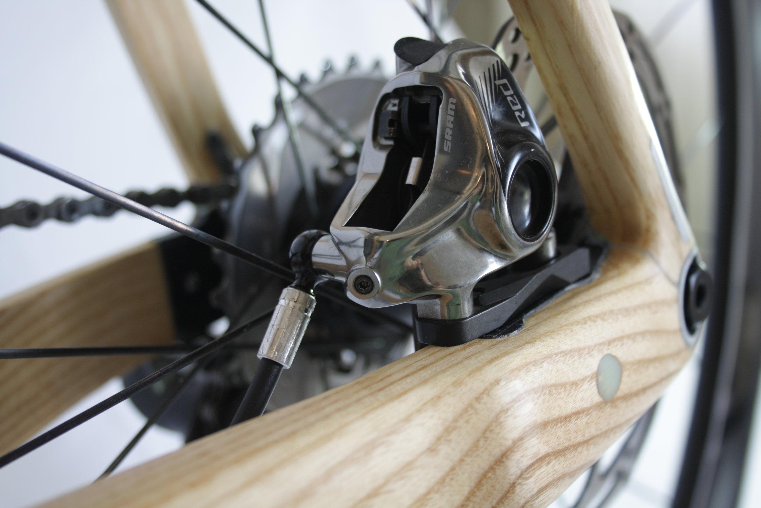 Montauk Hardwood Bikes, Flat Mount Disc Brakes Closeup 1.JPG