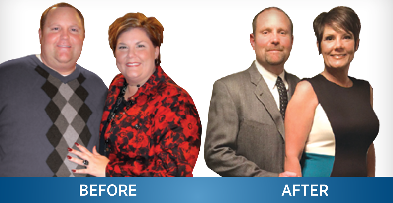 Jeff Wright lost 110 pounds and his wife Sharon lost 88 pounds after the couple had lap band procedures performed by Dr. Luttrell.