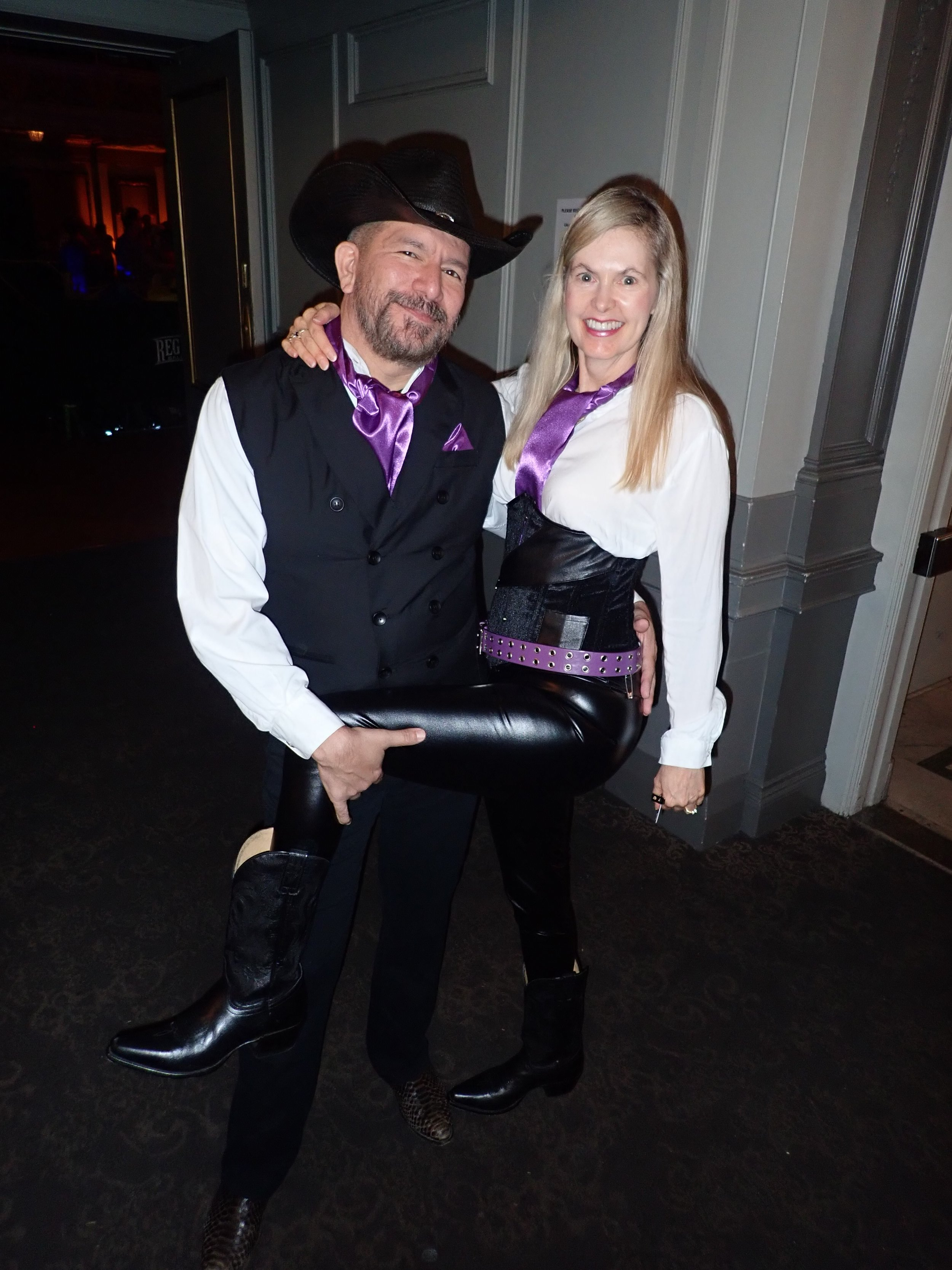 "Rick and Danielle in Purple for ""Sunday's Finest""  Stompede 2018"