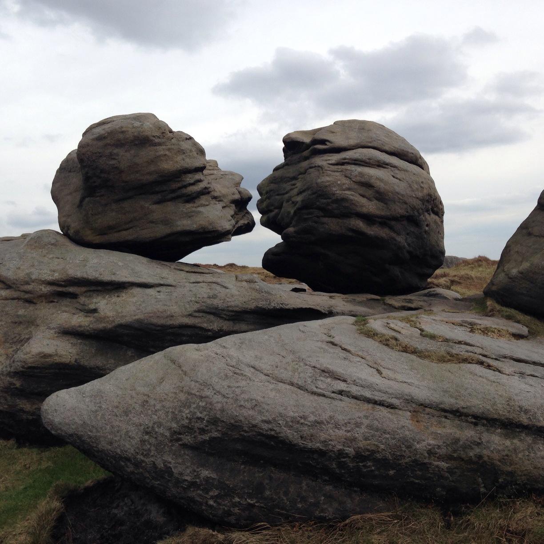 Wain Stones (or 'Kissing Stones') near Pennine Way at Bleaklow Head