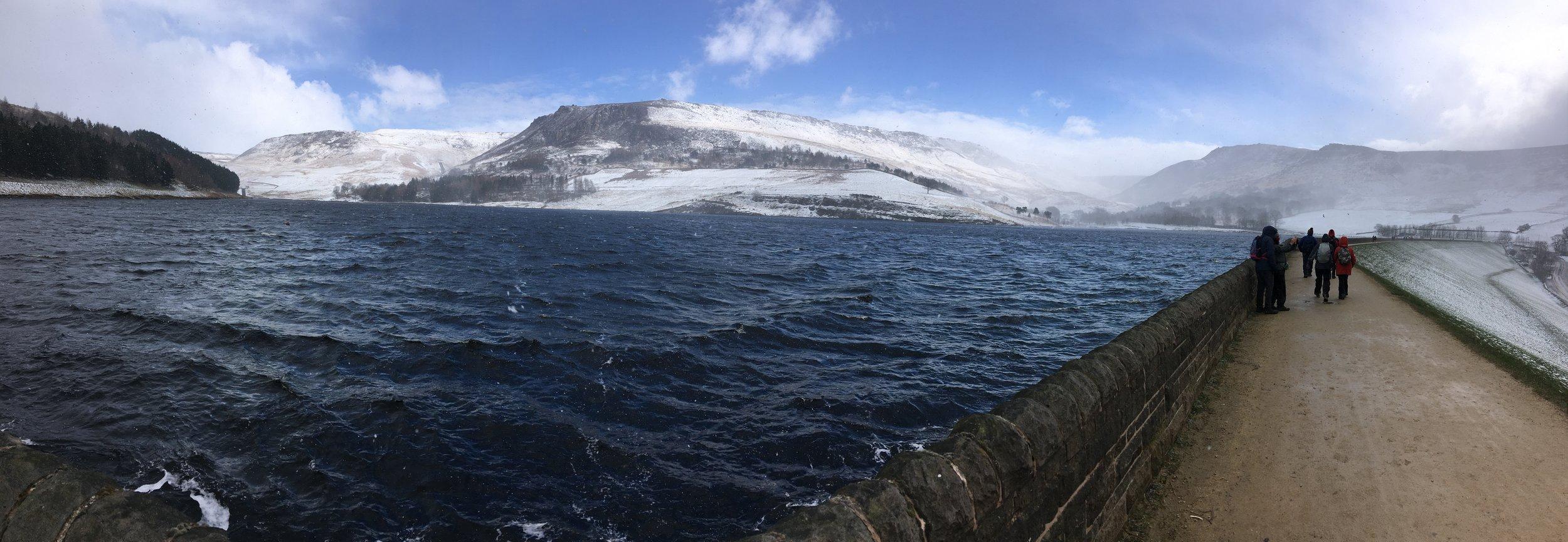 A Winter view of the Dovestone area