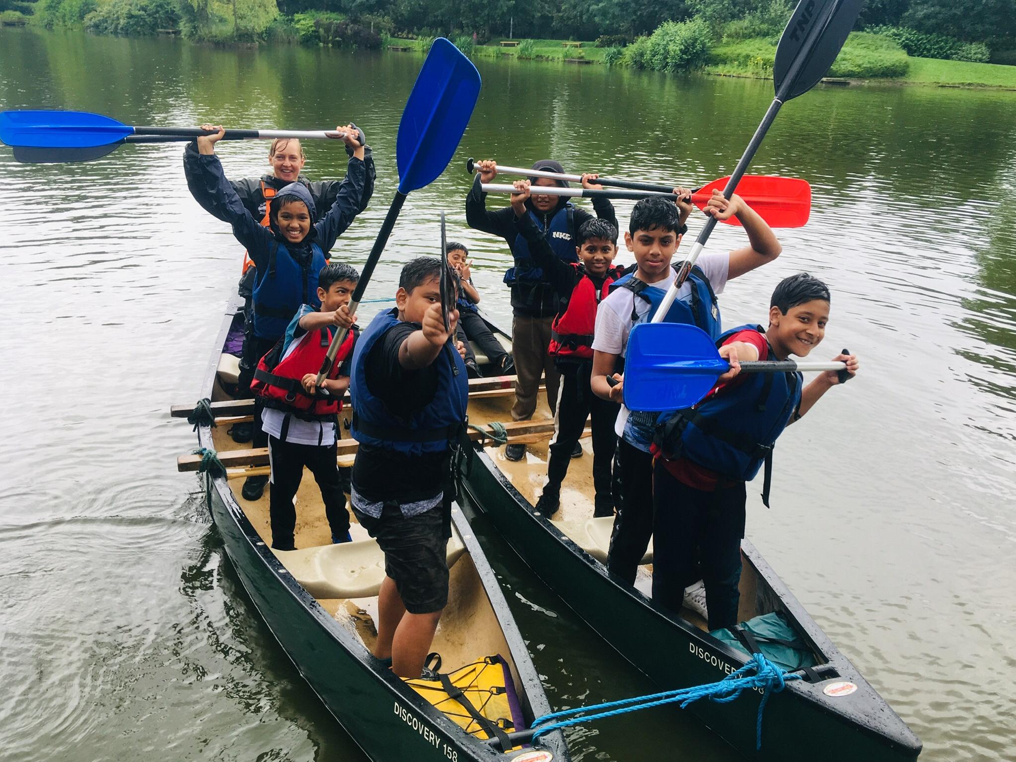 Canoeing in Alexandra Park